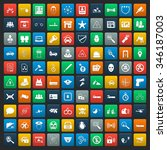 security 100 icons set for web... | Shutterstock .eps vector #346187003
