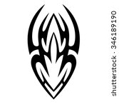 tattoo tribal vector design.... | Shutterstock .eps vector #346189190