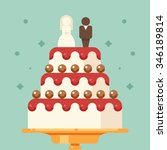 vector illustration of wedding... | Shutterstock .eps vector #346189814