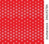 seamless snowflake pattern.... | Shutterstock .eps vector #346192784
