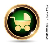 baby carriage icon. internet... | Shutterstock . vector #346195919