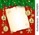 christmas background with old... | Shutterstock .eps vector #346196804