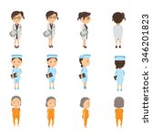 medical personnel and patient... | Shutterstock .eps vector #346201823