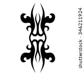 tribal tattoo vector design...   Shutterstock .eps vector #346211924