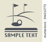 golf field icon or sign  vector ...   Shutterstock .eps vector #346212773