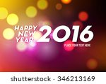new year 2016 colourful... | Shutterstock .eps vector #346213169