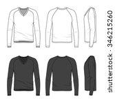 men's clothing set in white and ... | Shutterstock .eps vector #346215260