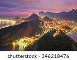 night view of rio de janeiro ... | Shutterstock . vector #346218476