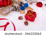 xmas or new year composition...   Shutterstock . vector #346223063