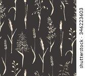 monochrome seamless pattern.... | Shutterstock . vector #346223603