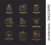 present labels and icons.... | Shutterstock .eps vector #346223690