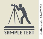 photographer icon or sign ... | Shutterstock .eps vector #346226756