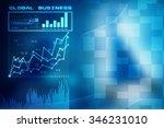 2d business graph background   Shutterstock . vector #346231010