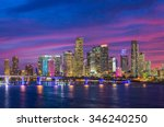 Miami City Skyline Viewed From...