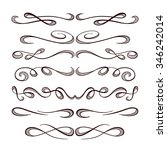 set of elegant flourishes for... | Shutterstock .eps vector #346242014