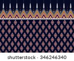 geometric ethnic pattern... | Shutterstock .eps vector #346246340