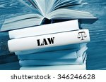 law concept   law book with law ... | Shutterstock . vector #346246628