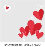 valentines card with  hearts.... | Shutterstock .eps vector #346247600