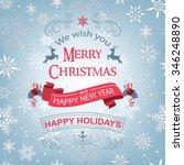 vintage christmas background...   Shutterstock .eps vector #346248890