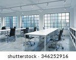 workplaces in a bright modern... | Shutterstock . vector #346252916