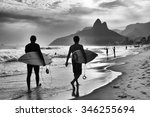scenic black and white view of... | Shutterstock . vector #346255694