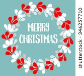 merry christmas pastel card... | Shutterstock . vector #346257710