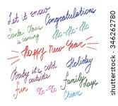 handwriting lettering  happy... | Shutterstock .eps vector #346262780