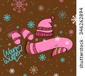 warm winter clothes illustration | Shutterstock .eps vector #346262894