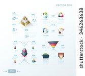 3d abstract infographic vectors ... | Shutterstock .eps vector #346263638