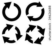 arrow set vector. set of design ... | Shutterstock .eps vector #34626688
