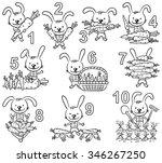 numbers in cartoon pictures set ... | Shutterstock .eps vector #346267250