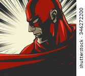 red comic book superhero. pop... | Shutterstock .eps vector #346272200