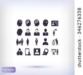 business man icons | Shutterstock .eps vector #346276358
