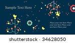 sweet nature postcard template | Shutterstock .eps vector #34628050