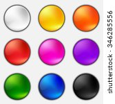 colorful plastic button set on... | Shutterstock .eps vector #346285556