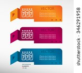 fortune 777 on origami paper... | Shutterstock .eps vector #346291958