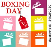 gift box on a sale  boxing day... | Shutterstock .eps vector #346292780