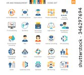 human resources and management... | Shutterstock .eps vector #346297694