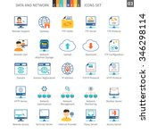 data and networks colorful icon ... | Shutterstock .eps vector #346298114