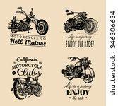 vector motorcycles... | Shutterstock .eps vector #346306634