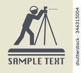 land surveyor icon or sign ... | Shutterstock .eps vector #346315004