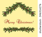 christmas and new year... | Shutterstock .eps vector #346316276