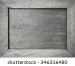 Empty Grey Wooden Frame