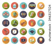 education icon vector set. set... | Shutterstock .eps vector #346317524