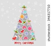 merry christmas | Shutterstock .eps vector #346317710