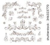 christmas decoration set... | Shutterstock .eps vector #346323770