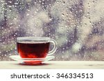 Cup Of Hot Black Tea On The...