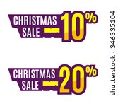 christmas sales tag or price... | Shutterstock .eps vector #346335104