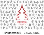 christmas tree pattern... | Shutterstock .eps vector #346337303