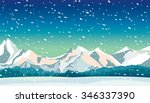 winter landscape with frozen...   Shutterstock .eps vector #346337390